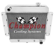 62 63 64 65 66 67 Chevrolet Nova 3 Row Champion PRO Series All Aluminum Radiator