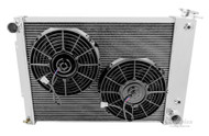 Champion Radiator for 1967 1968 1969 Chevy Camaro with BB Plus Electric Fan