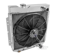 1960 -1965 Ford Falcon Champion Cooling PRO Series All Aluminum Radiator + Fan