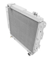 1987-2004 Jeep Wrangler YJ All Aluminum 3 Row Radiator for Chevy V8 Conversion