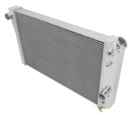 Chevrolet S10 3 Row Aluminum Radiator 4 V8 Engine Conversion with Dual Fans