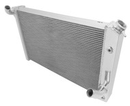1973 74 75 76 Chevy Corvette PRO SERIES 3 Row Aluminum Radiator + Dual Fans