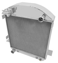 1924 1926 FORD Model T PRO Series 3 Row Aluminum Radiator + 16 Inch Electric Fan