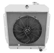 1955 1956 1957 1958 1959 Chevy C/K Series Pick-up Truck Radiator + Electric Fan