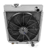 "1960 -1965 Ford Falcon 4 Row All Aluminum Radiator + 16"" 2500cfm Fan"