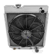 1960 -1965 Ford Ranchero Champion Cooling PRO Series All Aluminum Radiator + Fan