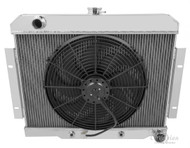 "AMC JAVELIN 1968 1969 1970 1971 1972 ALUMINUM RADIATOR + 16"" FAN"