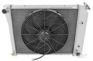 1980 1981 1982 1983 Oldsmobile Cutlass 3 Row Aluminum Radiator + Electric Fan