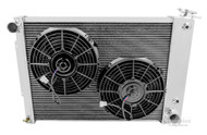 "1967 1968 1969 Chevy Camaro 3 Row Radiator for Big Block Motor + Dual 10"" Fans"