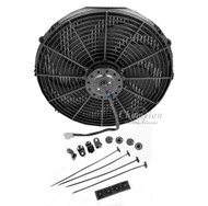 "12"" 1400cfm Electric Fan with Spiral Blades Revisible Pull or Push Air"