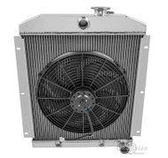 1949-1954 Chevy C/K Series All Aluminum Radiator + Fan