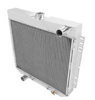 1963-1969 Ford Fairlane 4 Row Aluminum Radiator Combo