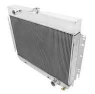 1963-1968 Chevy Biscayne 4 Row Aluminum Radiator + Fans