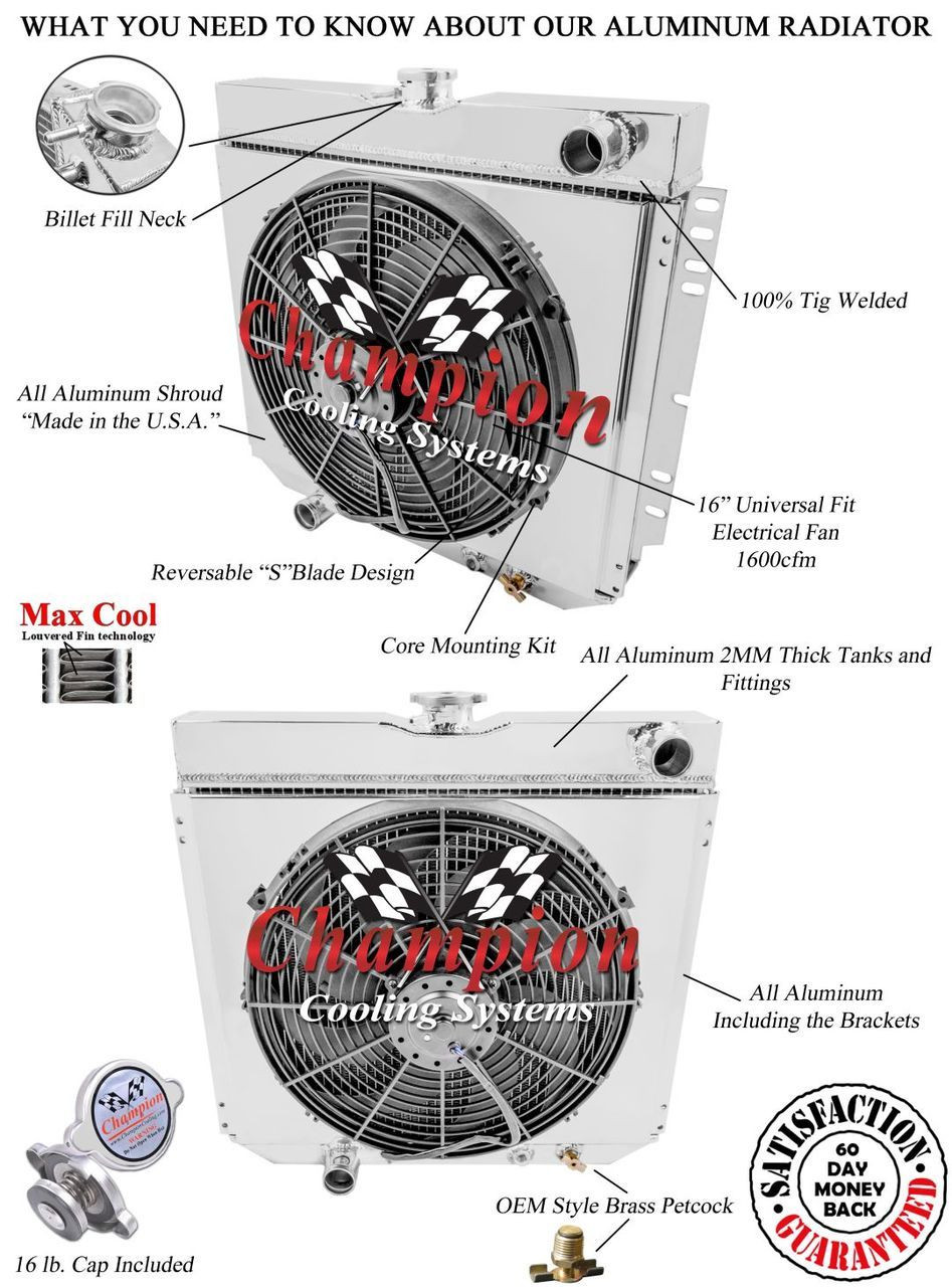 1968 1969 Ford Torino Aluminum Radiator Shroud Fan Performance Spal Fans Wiring Diagram Larger More Photos