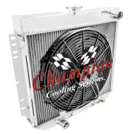 1968-1969 Ford LTD 3 Row All Aluminum Radiator + Fan