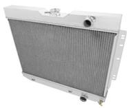 1963 1964 1965 Chevy Biscayne 4 Row Aluminum Radiator