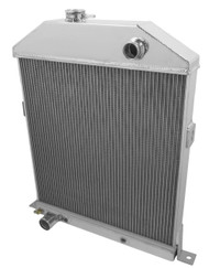 1943 1944 1945 FORD COUPE w/Chevy ENG Aluminum Radiator