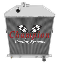 1942 1943 1944-48 FORD COUPE w/Chevy ENG 3 Row Radiator