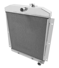 1950 1951 1952 -54 Chevy Pickup 3 Row Aluminum Radiator