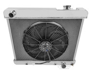 1964 1965 Oldsmobile F85 Champion Aluminum PRO Radiator + Fan