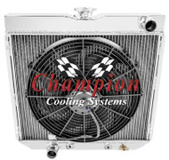 74 75 76 77 MAVERICK Aluminum Champion Radiator + Fan