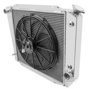 3 ROW Aluminum 66 67 68 69 70 71 72-77 Bronco Radiator 521 + Fan