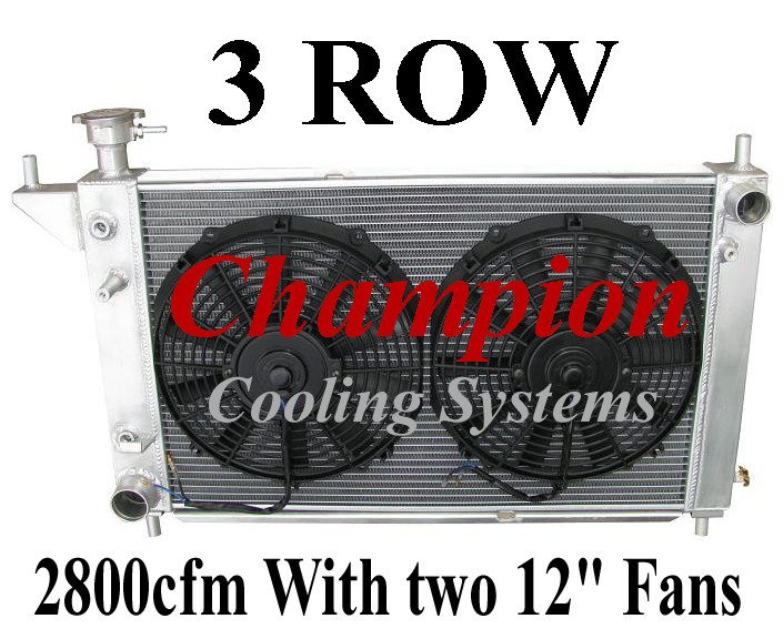 3-Row Performance Aluminum Racing Radiator For 1994-1995 Ford Mustang GT Cobra