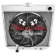 1963-1969 Ford Ranchero 3 Row Aluminum Radiator + Fan