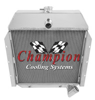 1941 42 43 44 45 46 47 48 49  International Truck Champion 3 Row Core Aluminum Radiator