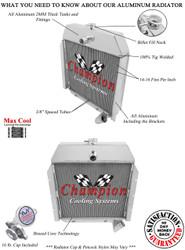 1941 - 1949 International Truck Champion 3 Row Core Aluminum Radiator