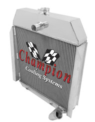 1944 International Truck Performance 3 Row Core Aluminum Radiator