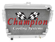 1977 1978 Ford Mustang II Champion 3 Row Core Aluminum Radiator