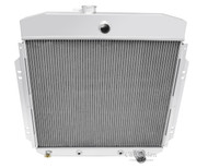 1957-1960 Ford F-Series Pickup 3 Row Aluminum Radiator for Chevy Eng