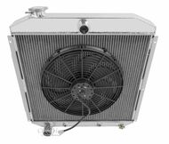 1953 54 55 56 Ford Truck 3 Row Champion Aluminum Radiator Fan Combo