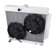 3 Row All Aluminum Radiator with Dual 12in. Fans