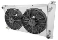 1967 68 69 70 71 72 Chevy C/K Series Champion 4-Row Core Aluminum Radiator Electric Fan Shroud Combo