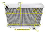 1965 1966 1967 Pontiac GTO Champion 3 Row Aluminum Performance Radiator Short Version
