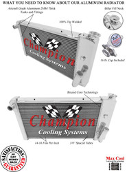 1971 1972 1973 1974 1975 1976 1977 Chevy Vega Champion 3 Row Aluminum Performance Radiator