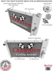 1971 1972 1973 1974 1975 1976 1977 Chevy Vega Champion 3 Row Aluminum Performance Radiator