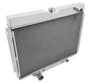 1967 68 69 70 24 Inch Core Mustang / Cougar Champion 2 Row Core 1 inch Tubes  All  Aluminum Radiator