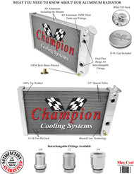 """Chevrolet S10 Champion PRO Series Radiator for LS Engine Conversion  16ORB with two 1.5"""" fittings"""