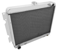 1970-1974  Dodge Charger 3 Row Aluminum Radiator for Big Block