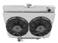 1968 1969 FORD Torino 4 ROW PERFORMANCE Radiator + Aluminum Shroud and Fans