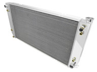 1994 1995 1996 1997 1998 1999 2000  Chevy C/K / Silverado 3 Row All Aluminum Performance Radiator w/Out Raised Fil Neck