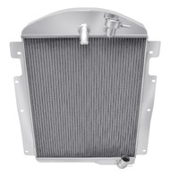 1937-1938  Chevy Pickup V6 Engine with No Trans Cooler 3 Row Core Aluminum Radiator