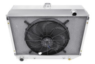 1968 69 70 71 72 73 Dodge Charger 2 Row with 1 Inch Tubes Row Aluminum Radiator Fan Combo AE375-C16A