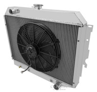 1970 Plymouth Belvedere 3 Row Champion Aluminum Radiator Fan Combo for Small Block CC374-FC16A
