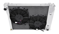 1968-1987 20 Inch Core GM 3 Row Champion Aluminum Radiator Dual Fans Combo