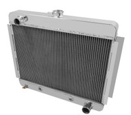 1966 1967 Chevy Nova V8 ENG All Aluminum 4 Row Radiator