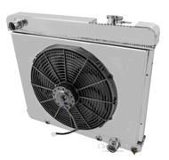 1963 64 65 66 Chevy C/K series Champion Aluminum Fan Shroud Only (RADIATOR AND FAN NOT INCLUDED)